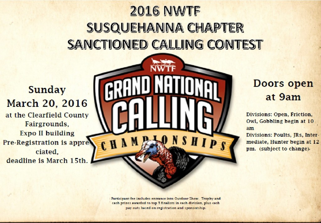 2016 nwtf poster